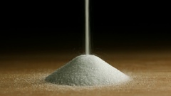Salt Pour Into Pile and Stops Stock Footage
