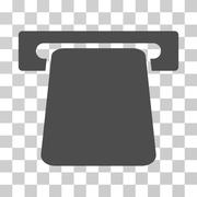 Bank ATM Vector Icon Stock Illustration