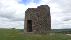 Memorial to the 1798 Rebellion on top of Vinegar Hill, Enniscorthy, Ireland. Stock Footage