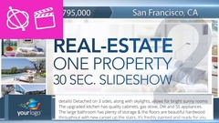 Real-Estate One Property 30s Slideshow 2 - Apple Motion and Final Cut Pro X Temp Stock After Effects