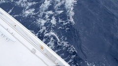 Waves overboard white yacht in Greece. In general plan. Stock Footage