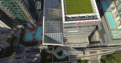 Helicopter tour Brickell City Centre 4k Stock Footage