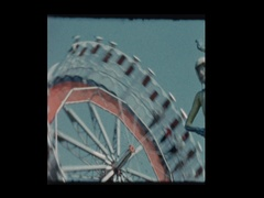 Round Up Carnival Ride Stock Footage