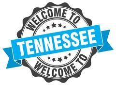Tennessee round ribbon seal Stock Illustration