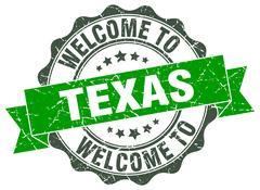 Texas round ribbon seal Piirros