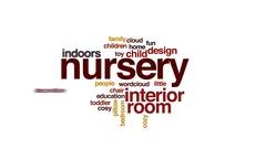 Nursery animated word cloud, text design animation. Stock Footage