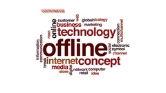 Offline animated word cloud, text design animation. Stock Footage