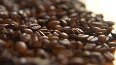 Across a Pile of Coffee Beans Stock Footage