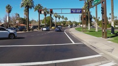 Traffic Intersection With Dont Drink And Drive Sign  Tempe AZ Stock Footage