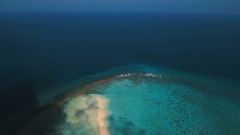 Aerial view beautiful beach on tropical island. Camiguin island Philippines Stock Footage