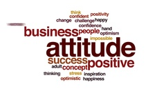Attitude animated word cloud, text design animation. Stock Footage