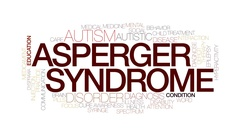 Asperger syndrome animated word cloud, text animation. Kinetic typography. Stock Footage