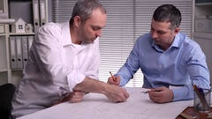 Joint development of the structural elements of the business center Stock Footage