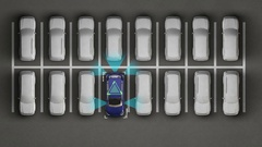 Automobile Technology. Auto parking, IOT technology, internet of thing. Stock Footage