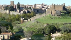 City of Tarquinia, Lazio, Italy Stock Footage