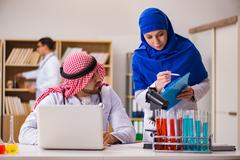 Diversity concept with doctors in hospital Stock Photos