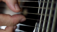 Classic Guitar - close up - slow motion Stock Footage