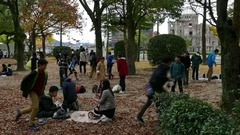 Children Playing In Park Near The Atomic Bomb Dome In Hiroshima Stock Footage