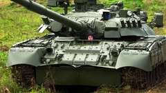 Battle Tank T-80 of the Russian army. 4K. Stock Footage
