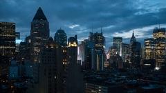 Time lapse of Manhattan sunrise - New York city skylines Stock Footage