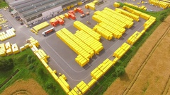 Storage and freight terminal. Stock Footage