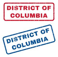 District Of Columbia Rubber Stamps Stock Illustration