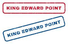 King Edward. Rubber Stamps Stock Illustration