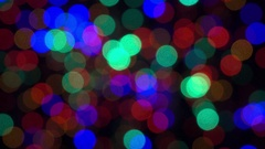 Abstract bokeh holiday background. Decoration of blinking garlands. Stock Footage