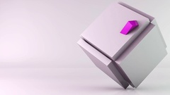 Cube transformation background Stock Footage