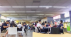 4K Time Lapse : The crowd at food court have something activity. Stock Footage