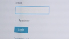 Typing An Password On The Web Page Stock Footage