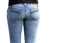 Ass girl on a white background Stock Photos