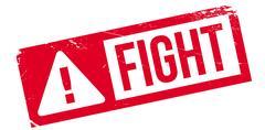 Fight rubber stamp Stock Illustration