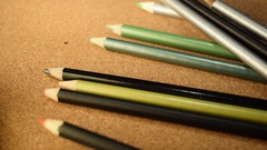 Pencils Drop in Reverse Motion Stock Footage