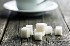 White sugar cubes. Stock Photos