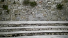 Marble Steps and Brick Wall Background - 29,97FPS NTSC Stock Footage