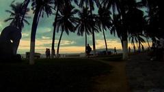 Promenade of Nha Trang at sunset. Stock Footage