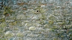Old Wall of Different Rocks Background - 29,97FPS NTSC Stock Footage