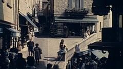 San Marino 1978: tourists walk downtown Stock Footage