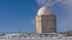 Jahorina, Bosnia and Herzegovina - Astronomical observatory during winter time Stock Photos