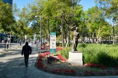 The Alameda Central Park in the historic center of Mexico City Kuvituskuvat