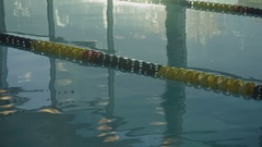 A training pool for swimmers. Modern pool for swimming and active sports. Stock Footage