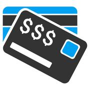 Credit Cards Flat Vector Icon Piirros