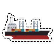 Cargo ship icon Stock Illustration