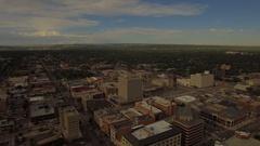 Aerial Colorado Colorado Springs September 2016 4K Stock Footage