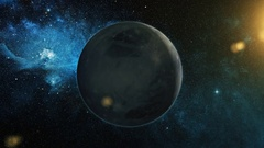 Realistic Planet Pluto from space Stock Footage
