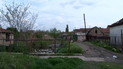 A poor neighborhood in the city Stock Footage