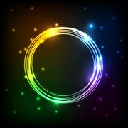 Abstract colorful plasma with circles background Stock Illustration
