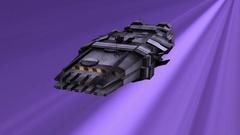 Spaceship at warp speed traveling Stock Footage