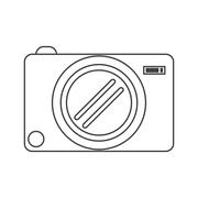 Photo camera picture image thin line Piirros